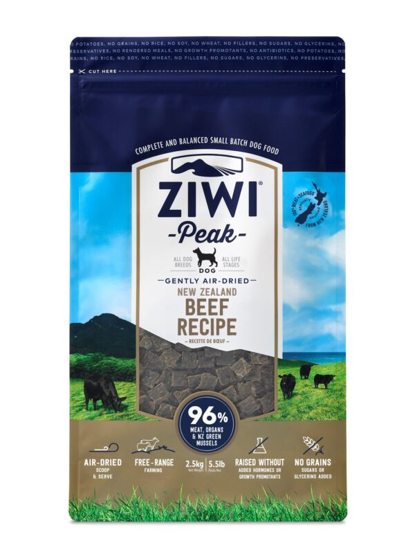 Ziwi Peak Dog Food Beef Air Dried Raw Front On