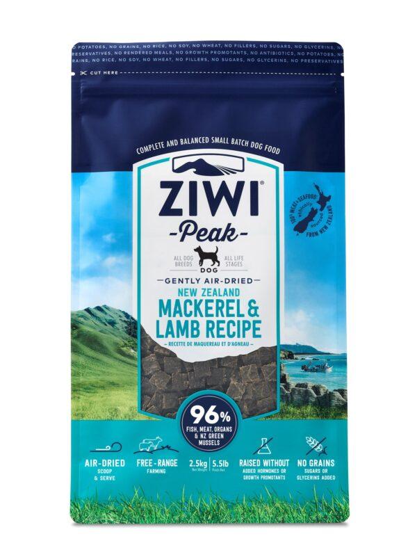Ziwi Peak Dog Food Mackerel & Lamb Air Dried Raw Front On